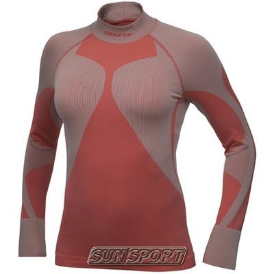 Термобелье Рубашка Craft W Pro Warm женская низкий ворот электрик