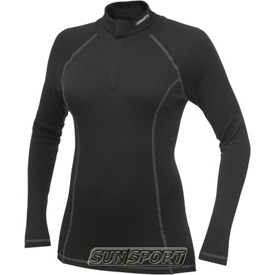 Рубашка термо Craft Pro Zero на молнии женская чёрный