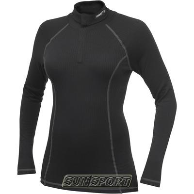 Термобелье Рубашка Craft W Pro Zero на молнии женская чёрный