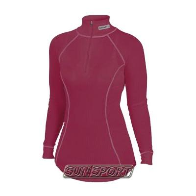 Термобелье Рубашка Craft W Pro Zero на молнии женская малиновый