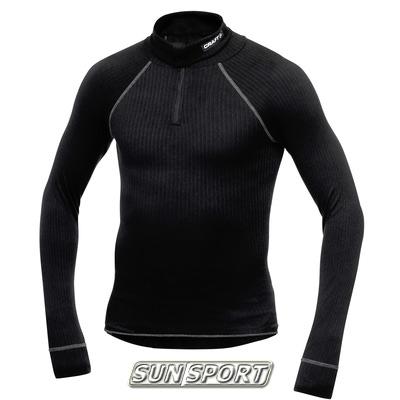 Термобелье Рубашка Craft M Pro Zero на молнии мужская чёрный