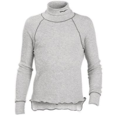 Термобелье Рубашка Craft JR Zero детская высокий ворот серый