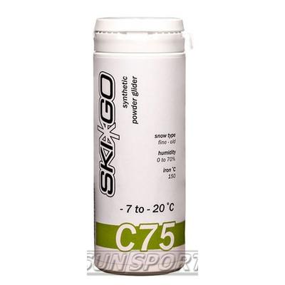 Порошок SkiGo C75 углеводород (-7-20) green 60г