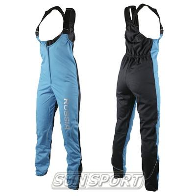 Штаны разминочные на лямках SunSport WS голубые
