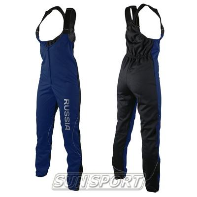 Разминочные штаны на лямках Sport365 WS темн/синий