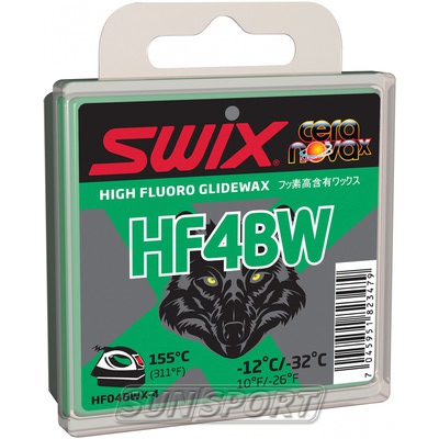 Парафин Swix HF BW04 Black (-12-32) green 40г