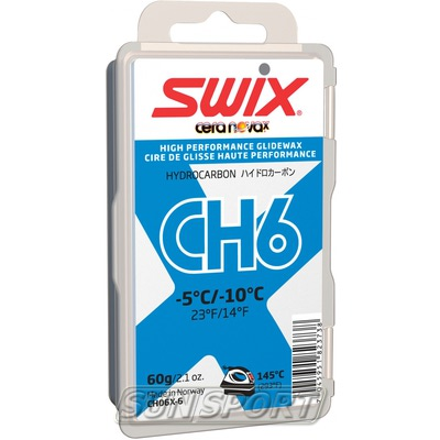 Парафин Swix CH06 (-5-10) blue 60г