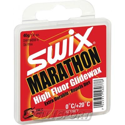 Парафин Swix HF BW Marathon (+20-0) black 40г