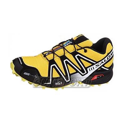 Кроссовки трейловые Salomon M Speed Cross 3 жёлт/чёрный (фото)