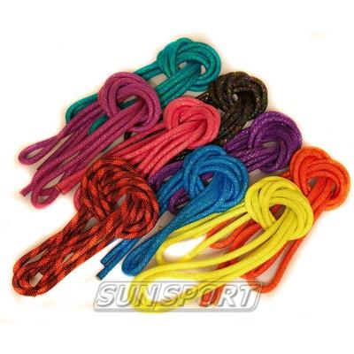 Скакалка для худ.гимнастики с люрексом d-10 (фото)