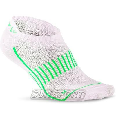 Носки беговые Craft Cool Training бел/черн/зеленый (фото)