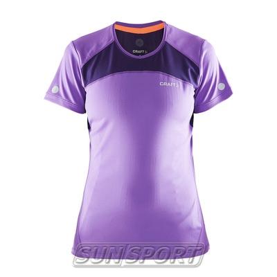 Футболка Craft W Devotion Run женская лил/фиолетовый (фото)