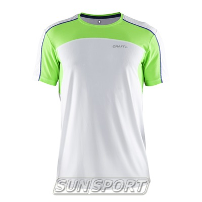 Футболка Craft M Performance мужская бел/зеленый
