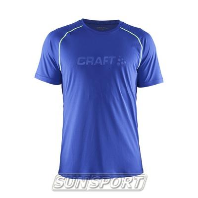 Футболка Craft M Active мужская атлант/желтый (фото)