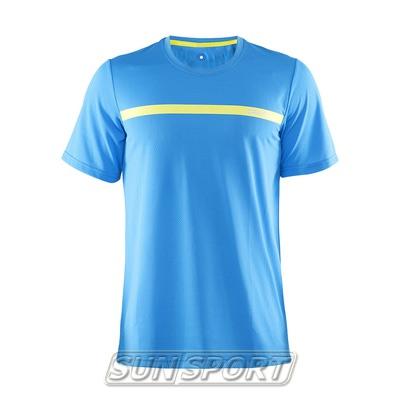 Футболка Craft M Joy Run мужская гол/желтый (фото)
