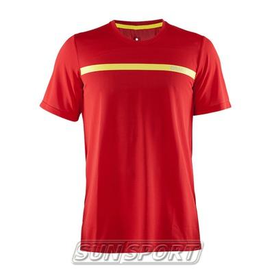 Футболка Craft M Joy Run мужская красн/желтый (фото)