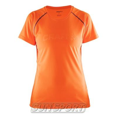 Футболка Craft W Prime Run женская оранж/фиолетовый (фото)
