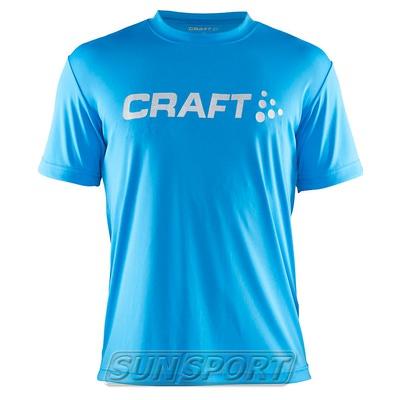 Футболка Craft M Run Logo мужская голубой