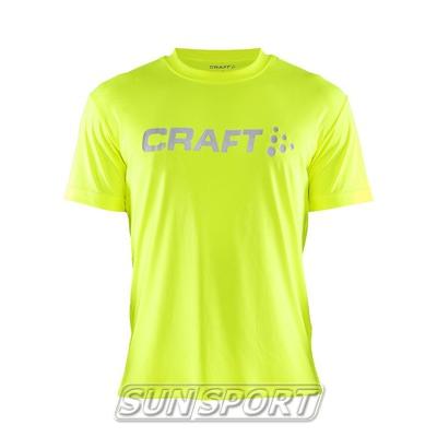 Футболка Craft M Run Logo мужская желт/неон
