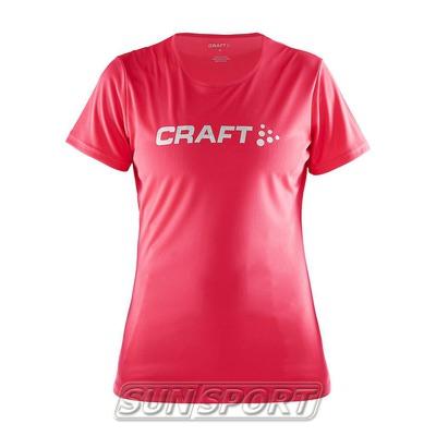 Футболка Craft W Prime Run Logo женская ягода (фото)
