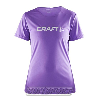 Футболка Craft W Prime Run Logo женская лиловый (фото)
