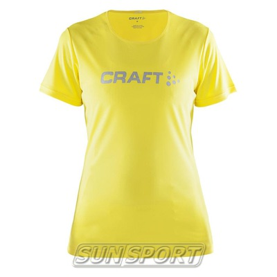 Футболка Craft W Prime Run Logo женская желтый (фото)