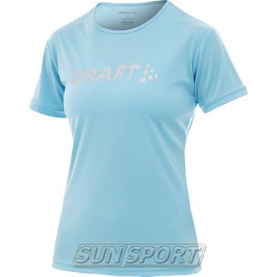 Футболка Craft W Active Run Logo женская голубой
