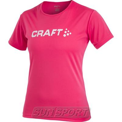 Футболка Craft W Active Run Logo женская сорбет