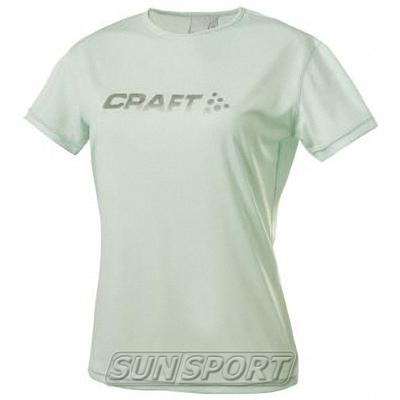 Футболка Craft W Active Run Logo женская бриз
