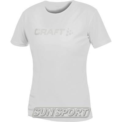 Футболка Craft W Active Run Logo женская серый