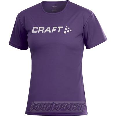 Футболка Craft W Active Run Logo женская сиреневый