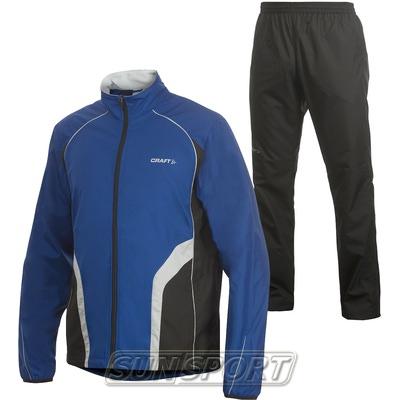 Костюм тренировочный Craft M Active Run Basic мужской синий (фото)