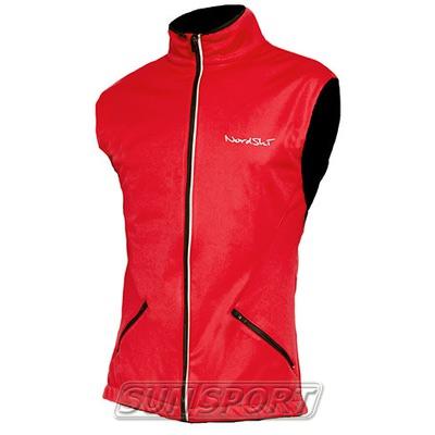 Жилет NordSki M Premium SoftShell мужской красный (фото)