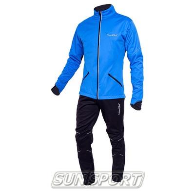 Разминочный костюм NordSki M Premium SoftShell мужской синий (фото)