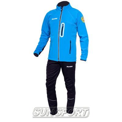 Разминочный костюм NordSki M SoftShell мужской голубой (фото)