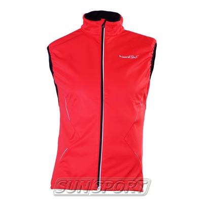 Жилет NordSki W Premium SoftShell женский красный (фото)