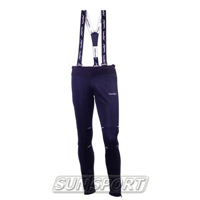 Разминочные штаны на лямках NordSki М Premium мужские черный (фото)