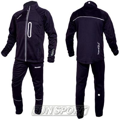 Разминочный костюм NordSki M SoftShell мужской черн/серый (фото)