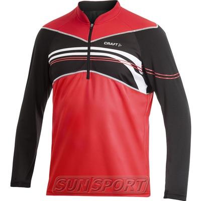 Велорубашка Craft Active Bike Longsleeve Jersey мужская чёрн/белый