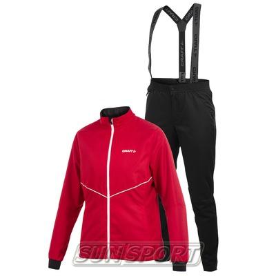 Костюм тренировочный Craft W Active Basic женский красн/черный (фото)
