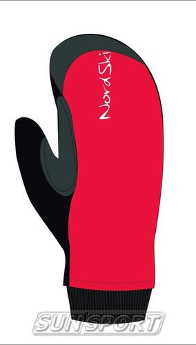 Варежки NordSki Active WS красный (фото)