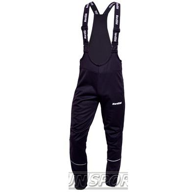 Разминочные штаны на лямках NordSki JR Active детский черный (фото)