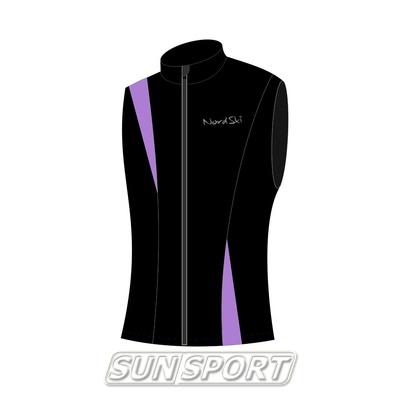 Жилет NordSki W SoftShell женский черн/фиолетовый (фото)