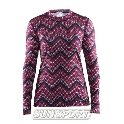 Термобелье Рубашка Craft W Mix&Match женская зигзаг (фото)