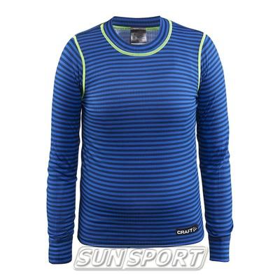 Рубашка термо Craft Mix&Match дет гл.син/желт (фото)