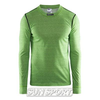 Термобелье Рубашка Craft M Mix&Match мужская салатовый (фото)