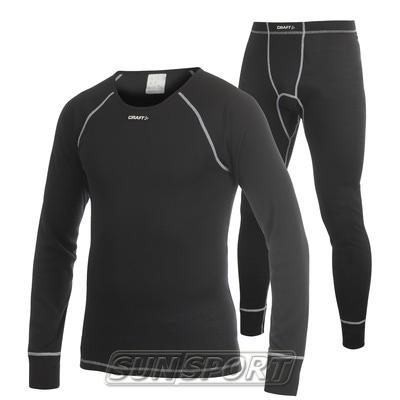 Комплект Craft Warm 2-pack мужской чёрный ®