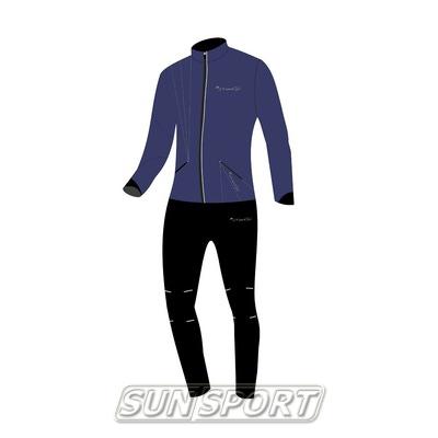 Разминочный костюм NordSki JR Premium SoftShell детский Navy (фото)