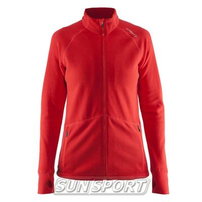 Толстовка Craft W Micro Fleece флис женская красный (фото)