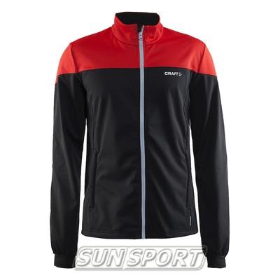 Разминочная куртка Craft W Voyage мужская черн/красный (фото)